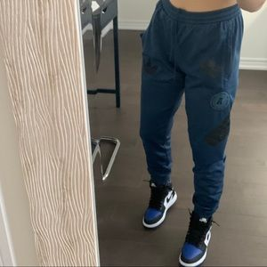 rare adidas graphic jogger sweatpants
